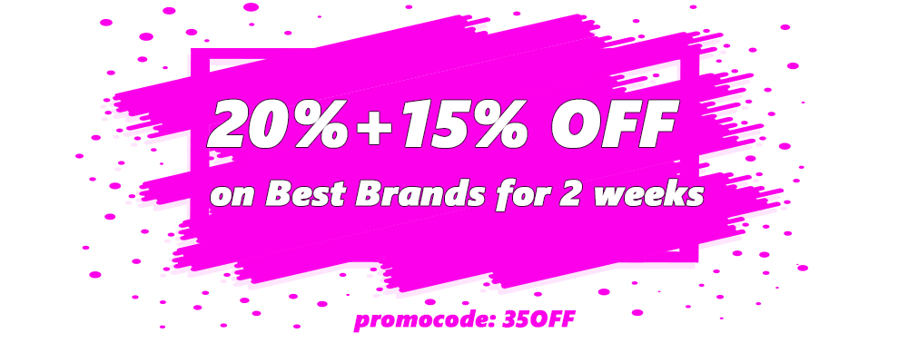 20 Days 35% OFF on best brands