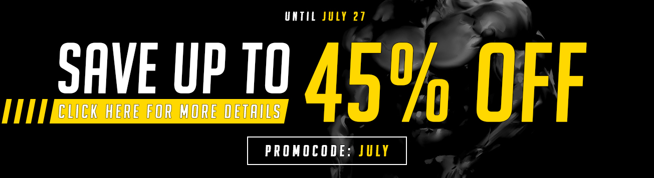 Save up to 45% - July 2020